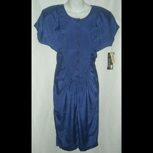 Vintage Secretary Dress 80's 90's Made In USA NWT